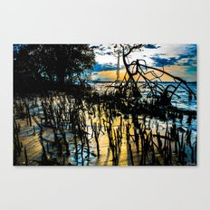 Twisted Shadows Play in a Sapphire Sunset Canvas Print