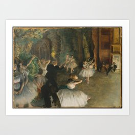 The Rehearsal of the Ballet Onstage, Art Print