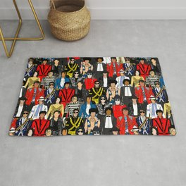 King MJ Pop Music Fashion LV Rug