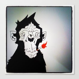 The Smoking Monkey Canvas Print
