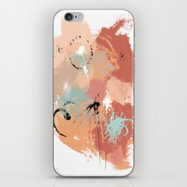 Unrestrained, Abstract Art Brushstrokes iPhone Skin