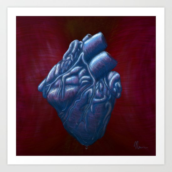 Her Heart of Ice - painting Art Print