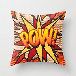 Comic Book POW! Throw Pillow