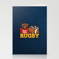 rugby Stationery Cards featuring RUGBY by frail