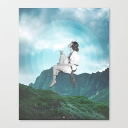 Exhaling Thoughts Canvas Print