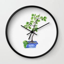 My husband's bonsai 01 Wall Clock