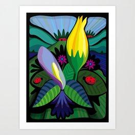 Swamp Flowers Art Print