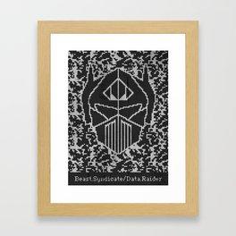 Data Raider Framed Art Print