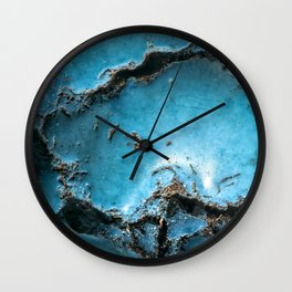 Turquoise stone close up Wall Clock