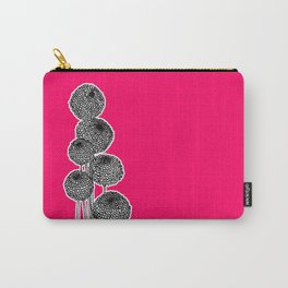 Rounded Flower Carry-All Pouch