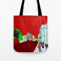 general Tote Bags featuring General Public by bivisual