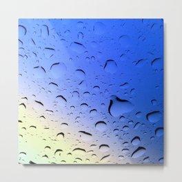 Rainbow Rain Metal Print