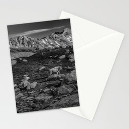 Mountain Goat at Twin Lakes Stationery Cards