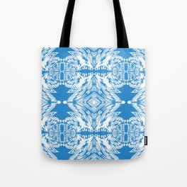 Blue and White Classy Psychedelic Tote Bag