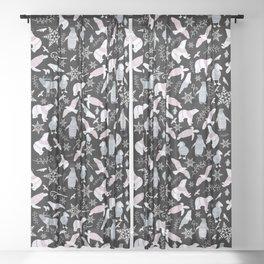 Arctic Animals Winter Pattern Sheer Curtain
