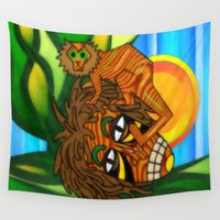 jojo Wall Tapestries featuring Congo JoJo by BohemianBound