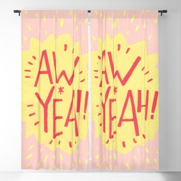 Aw Yeah! // Blush and Yellow Blackout Curtain