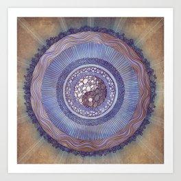 Yin Yang Balance Mandala Art Print