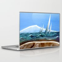 geology Laptop & iPad Skins featuring The Geology of Boating by Patricia Howitt