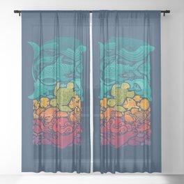 Aquatic Spectrum Sheer Curtain