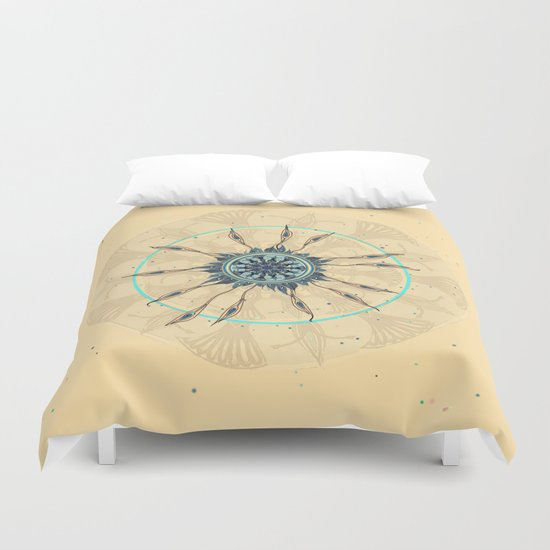 Abstract Peacock Deconstructed Duvet Cover