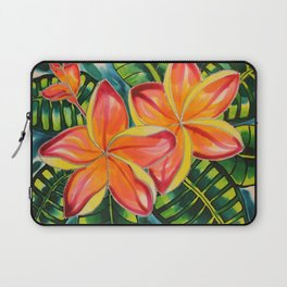 Pink Plumeria of Belize Laptop Sleeve