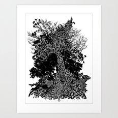 tree kids Art Print
