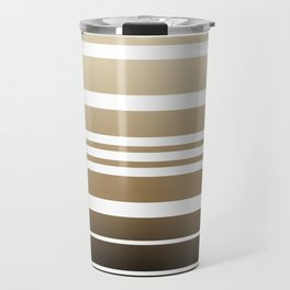 Bay Ombre Stripe: Neutral Travel Mug