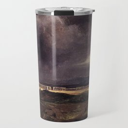 Carl Blechen - Stormy Weather over the Roman Campagna - German Romanticism - Oil Painting Travel Mug