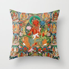 21 Taras Thangka Samantabhadra Varayogini Throw Pillow