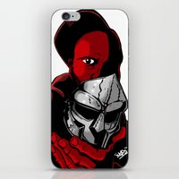 mf doom iPhone & iPod Skins featuring MF DOOM 2 by Derick Skuds Mckinley Jones