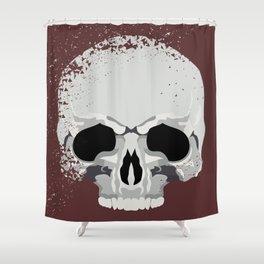 Human Half Skull Shower Curtain