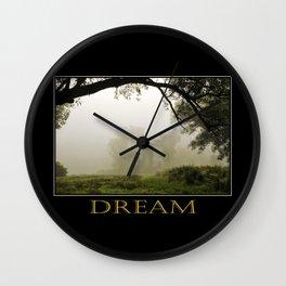 Inspiring Dreams Wall Clock