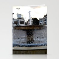 israel Stationery Cards featuring Israel Fountain by R. Nicole