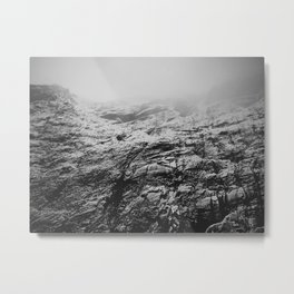 Snow Wall Metal Print