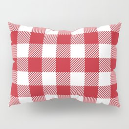 Buffalo Plaid - Red & White Pillow Sham