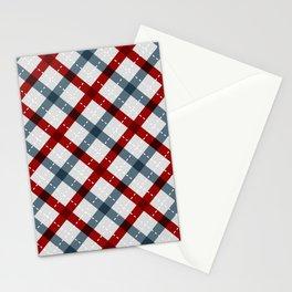 Colorful Geometric Strips Pattern - Kitchen Napkin Style Stationery Cards