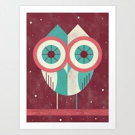 Owl in Distress Art Print