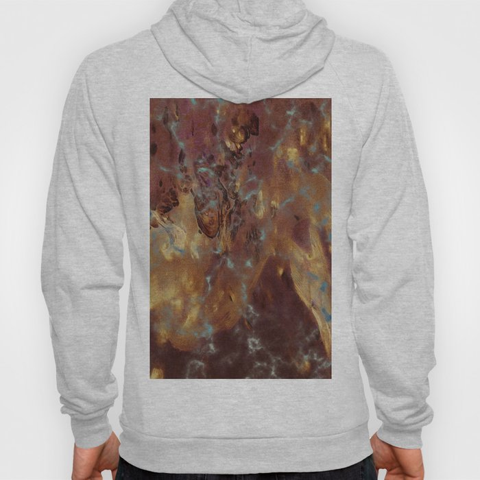 Abstract copper pattern Hoody