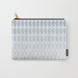 pattern leaves in the mist (ice gray) Carry-All Pouch