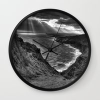 hawaii Wall Clocks featuring Hawaii by Green Skye