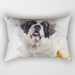 St Bernard Rectangular Pillow