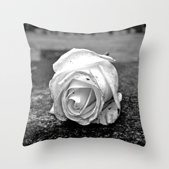 One last rose Throw Pillow