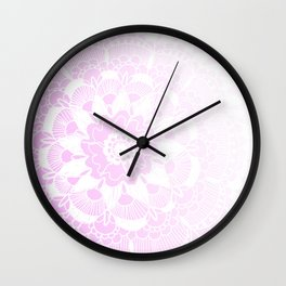 Bohemian Chic and Pretty in Pink Mandala Wall Clock