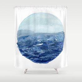 Around the Ocean Shower Curtain