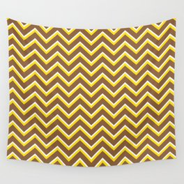 Tribal Chevron (Brown and Yellow) Wall Tapestry