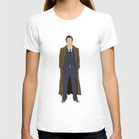 david tennant T-shirts featuring David Tennant as Dr Who by liamgrantfoto