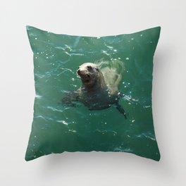 A Seal Says Hello Throw Pillow