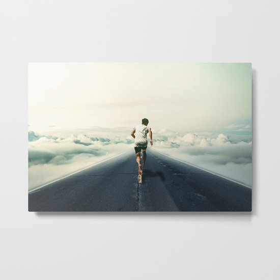 The Runner Metal Print