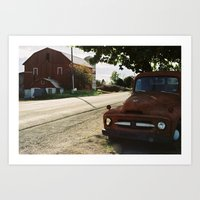 truck Art Prints featuring Truck by Jessica Krzywicki